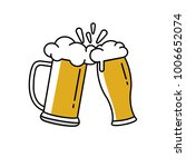 illustration of toasting beer... | Shutterstock . vector #1006652074