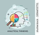 human head  magnifying glass...   Shutterstock .eps vector #1006653751