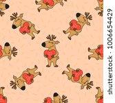 cute doodle tribal seamless... | Shutterstock .eps vector #1006654429