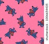 cute doodle tribal seamless... | Shutterstock .eps vector #1006654435