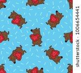 cute doodle tribal seamless... | Shutterstock .eps vector #1006654441