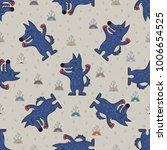 cute doodle tribal seamless... | Shutterstock .eps vector #1006654525