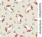 cute doodle tribal seamless... | Shutterstock .eps vector #1006654531