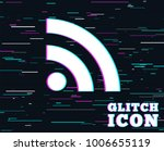 glitch effect. rss sign icon....   Shutterstock .eps vector #1006655119