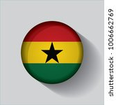 button flag of ghana in a round ... | Shutterstock .eps vector #1006662769