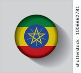button flag of ethiopia in a... | Shutterstock .eps vector #1006662781
