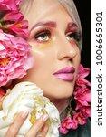 creative fashion beauty... | Shutterstock . vector #1006665301