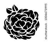 flower rose  black and white.... | Shutterstock .eps vector #1006673995