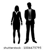 vector silhouettes of man and... | Shutterstock .eps vector #1006675795