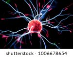 plasma ball in action.   Shutterstock . vector #1006678654
