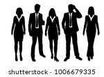 vector silhouettes of men and... | Shutterstock .eps vector #1006679335