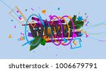 abstract 3d composition with... | Shutterstock . vector #1006679791