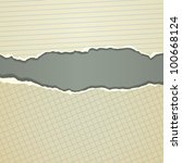 torn paper borders with soft... | Shutterstock .eps vector #100668124