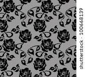 Black Lace Seamless Pattern On...