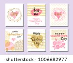set of beautiful greeting cards ... | Shutterstock .eps vector #1006682977