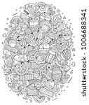 cartoon cute doodles hand drawn ... | Shutterstock .eps vector #1006688341