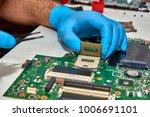 hands of the technician...   Shutterstock . vector #1006691101