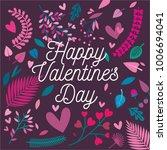 valentine's day vector...   Shutterstock .eps vector #1006694041