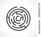 labyrinth maze vector icon... | Shutterstock .eps vector #1006695739