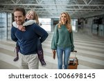 smiling family of tourists... | Shutterstock . vector #1006698145