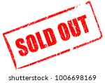 sold out vector rectangular... | Shutterstock .eps vector #1006698169