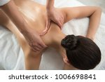 top view close up of masseuse...   Shutterstock . vector #1006698841