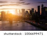 colorful sunset behind the... | Shutterstock . vector #1006699471