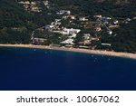 aerial view on parga greece | Shutterstock . vector #10067062