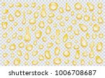 set of yellow translucent water ... | Shutterstock .eps vector #1006708687