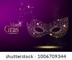 mardi gras golden polygonal... | Shutterstock .eps vector #1006709344