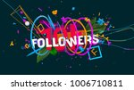 abstract colorful composition... | Shutterstock . vector #1006710811