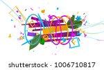 modern design trendy 3d... | Shutterstock . vector #1006710817
