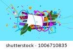 abstract 3d rendered... | Shutterstock . vector #1006710835