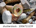 close up of old oxidized metal... | Shutterstock . vector #1006711159