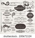 vector set  calligraphic design ... | Shutterstock .eps vector #100671124