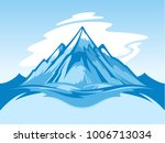vector snow mountain blue and... | Shutterstock .eps vector #1006713034