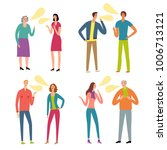set of different age and... | Shutterstock .eps vector #1006713121