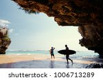 hobby and vacation. surfers... | Shutterstock . vector #1006713289