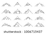 vector mountains continuous... | Shutterstock .eps vector #1006715437