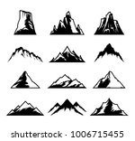 vector mountains icons isolated ... | Shutterstock .eps vector #1006715455