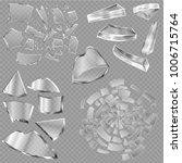 broken glass vector sharp... | Shutterstock .eps vector #1006715764