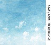 Grunge Image Of Blue Sky.
