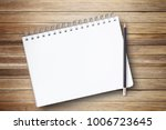 notepad or notebook with pencil ... | Shutterstock . vector #1006723645