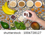 food rich in magnesium  mg ....   Shutterstock . vector #1006728127