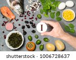 food rich in iodine. various... | Shutterstock . vector #1006728637