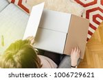 view from above of woman...   Shutterstock . vector #1006729621