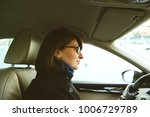 confident young woman driving... | Shutterstock . vector #1006729789