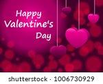 vector happy valentines day...   Shutterstock .eps vector #1006730929