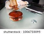 auctioneer prepared to hit the... | Shutterstock . vector #1006733095