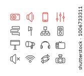 vector illustration of 16 media ... | Shutterstock .eps vector #1006733311
